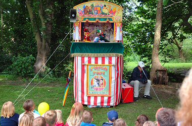 Family Fun with Punch and Judy in the Town Park