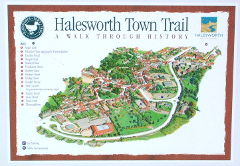 The Halesworth Town Trail sign