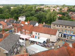 Views of Halesworth from St. Mary's Church tower